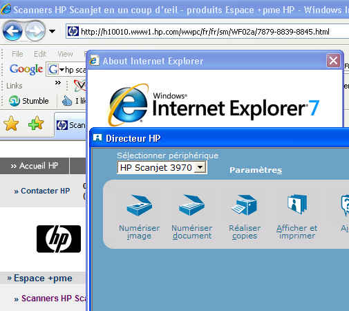 Hp director ouvre pas for Probleme ouverture fenetre internet explorer