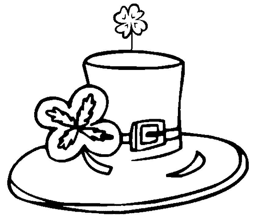 dessin à colorier de la St-Patrick