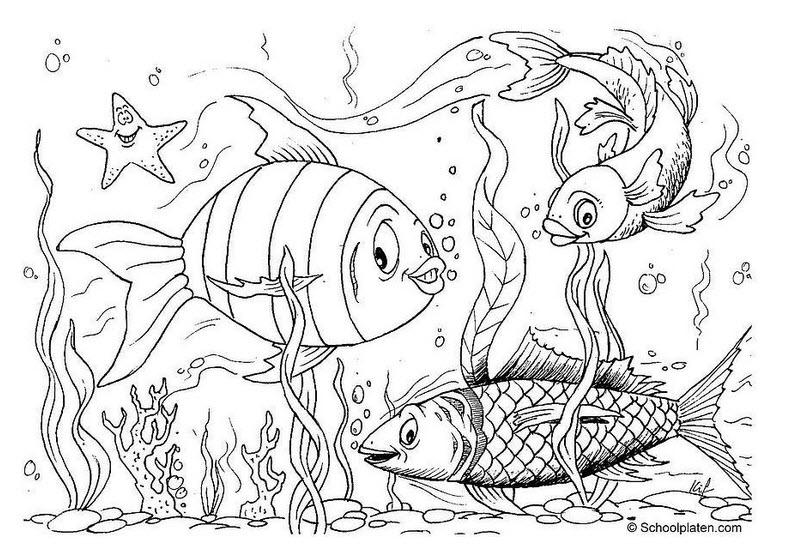 Poissons colorier - Dessin poisson ...