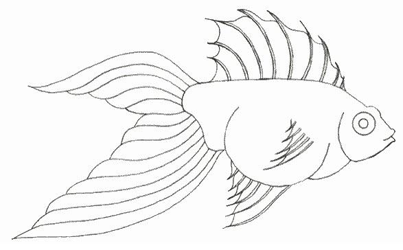 Dessin facile a dessiner de plage - Dessin poisson ...