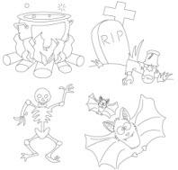 coloriage d'Halloween à imprimer
