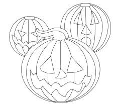 Exemple de dessin à colorier de décoration de citrouille